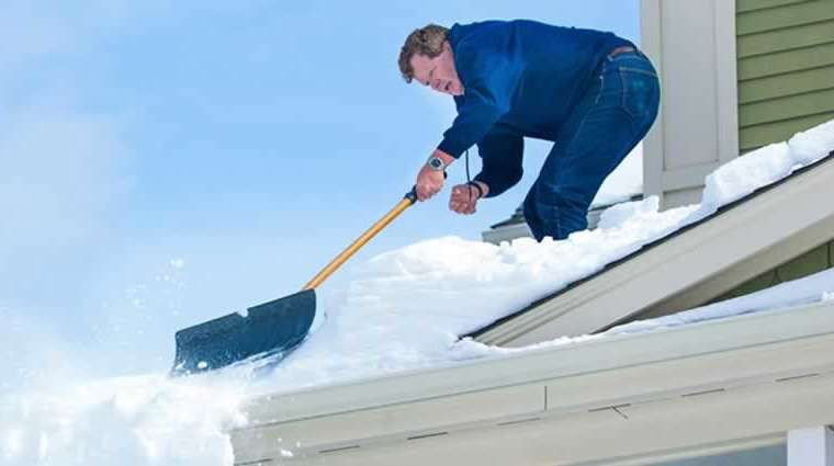 Test for roof injury after a snow storm