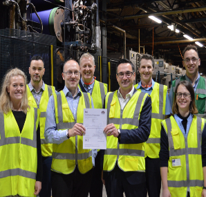 Carrington Textiles' major plant is ISO 50001 licensed