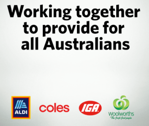 Supermarkets work collectively to serve all Aussies