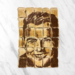 Flip toast with Nutella into artwork!