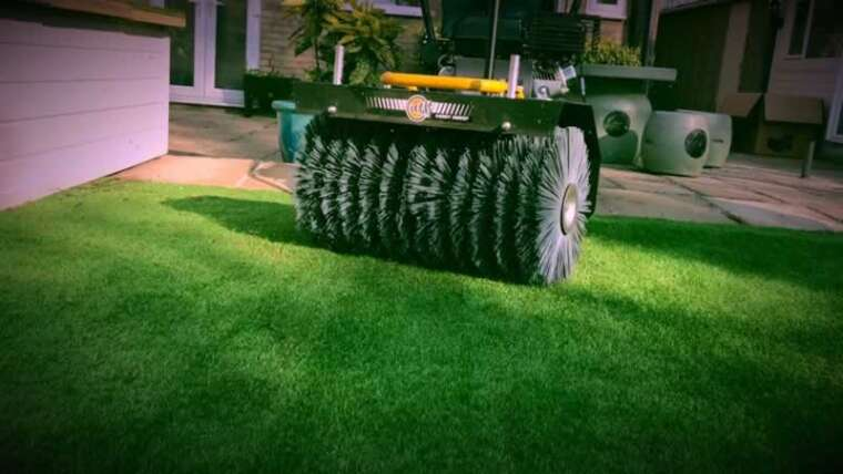 The best way to clear synthetic turf?