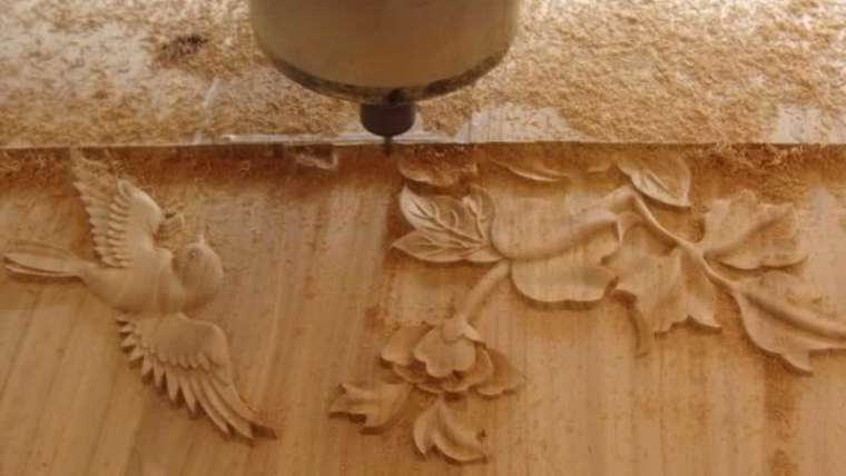 Use of a CNC wooden router