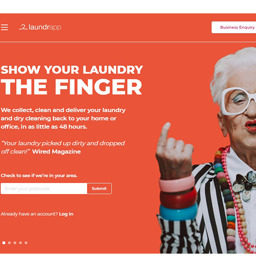 Disruptor Laundrapp is refreshing the model by giving up conventional laundry practices