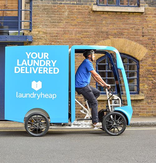 Laundryheap's on-demand platform begins gathering eco-bikes
