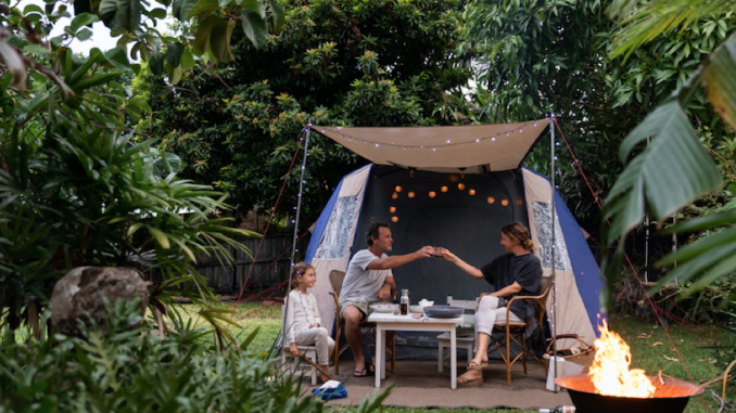 How do you intend a yard campout?