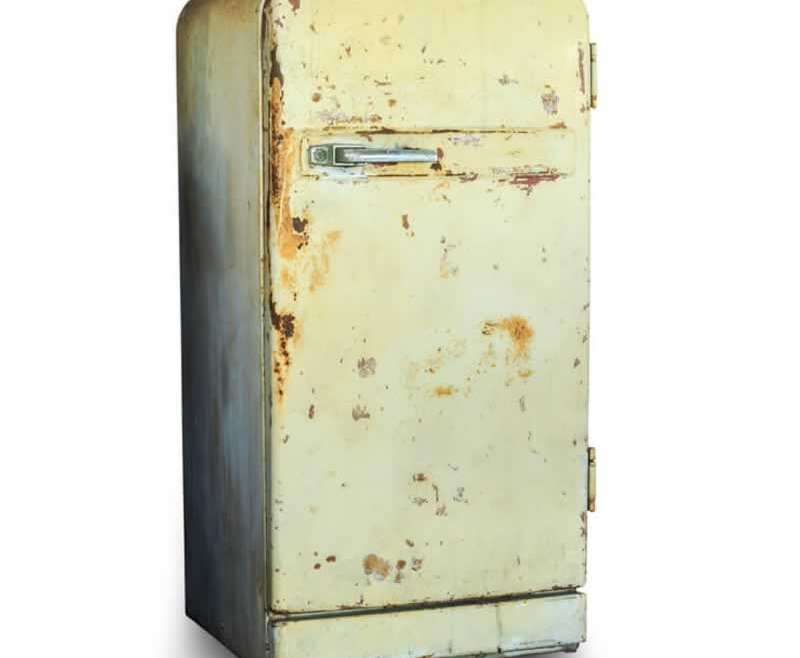 Disposal choices for an outdated fridge with freezer compartment