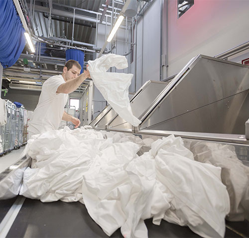 """TSA doesn't """"waste"""" time on the hospitality textile recycling program"""