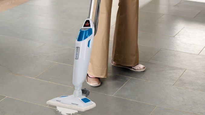 What's one of the simplest ways to scrub ceramic tile flooring?