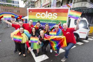 Coles exhibits rainbow pleasure