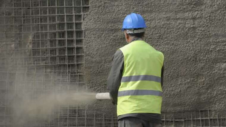 What's shotcrete and when is it used?