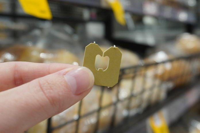 Cole's non-public label bread removes plastic labels