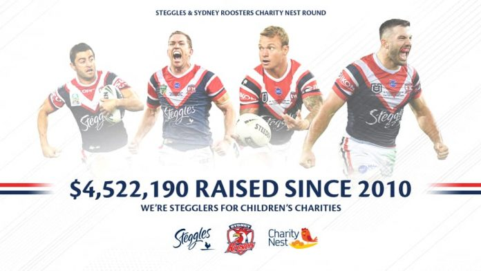 Sydney Roosters and Steggles assist the Ronald McDonald Home Charities
